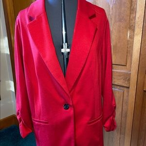 Red size 1X blazer by Style & Co.